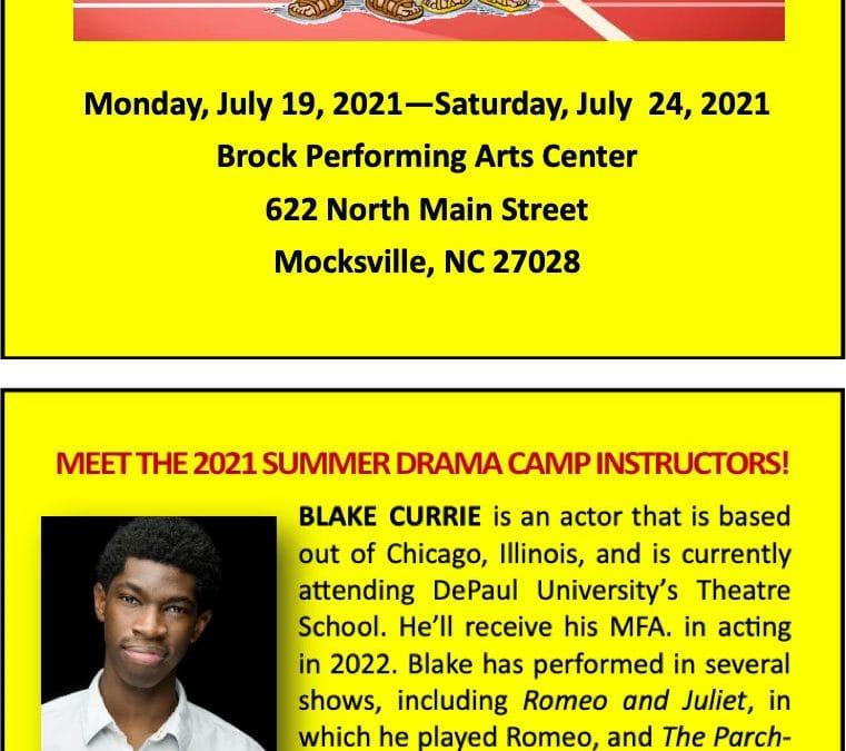 Summer Drama Camp 2021
